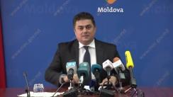 Conferință de presă susținută de Ministrul Economiei și Infrastructurii, Octavian Calmâc, privind activitatea zonelor economice libere în 9 luni ale anului curent