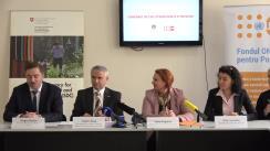 """Conferință de presă de lansare a proiectului """"Prevenirea cancerului de col uterin în Republica Moldova"""""""