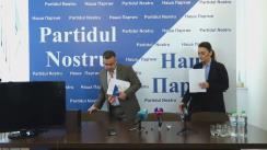 """Conferință de presă cu tema """"Partidul Nostru cere încetarea dosarului împotriva lui Renato Usatîi și tragerea la răspundere penală a procurorilor"""""""