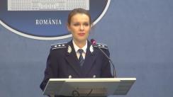 Declarație susținută de Purtătorul de cuvânt al Ministerului Afacerilor Interne, comisar-șef de poliție Monica Dajbog