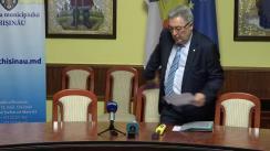 Declarație de presă susținută de primarul interimar al Municipiului Chișinău, Nistor Grozavu