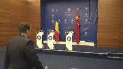 Declarații susținute de Ministrul Afacerilor Externe, Teodor Meleșcanu, Ministrul Energiei, Toma-Florin Petcu, și directorul Administrației Naționale pentru Energie din Republica Populară Chineză, Nur Bekri