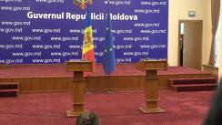 Briefing susținut de Prim-ministrul Republicii Moldova, Pavel Filip, și șeful echipei de experți ai Fondului Monetar Internațional, Ben Kelmanson