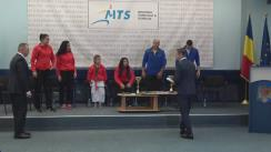 Conferință de presă organizată de Ministerul Tineretului și Sportului în urma clasării României pe primul loc în clasamentul pe națiuni la Campionatul Mondial de karate fudokan