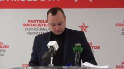 """Conferință de presă organizată de Partidul Socialiștilor din Republica Moldova cu tema """"Problemele și încălcările în organizarea examenelor de Bacalaureat. Rezultatele activității comisiei"""""""