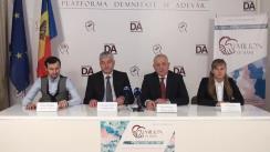 """Conferință de presă organizată de Partidul Platforma Demnitate și Adevăr cu tema """"Derapajul antidemocratic în cadrul constituirii circumscripțiilor electorale"""""""