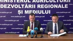 """Conferința de presă cu tematica """"Noi oportunități pentru agricultori în cadrul proiectului de Restructurare a Sectorului Horticol """"Livada Moldovei"""""""