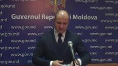 Declarațiile lui Vladimir Cebotari după ședința Guvernului Republicii Moldova din 15 noiembrie 2017