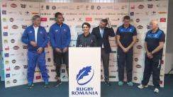 Conferință de presă organizată de Federația Română de Rugby prilejuită de meciul test Romania - Samoa