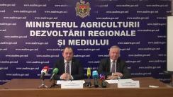 """Conferință de presă organizată de Ministerul Agriculturii, Dezvoltării Regionale și Mediului cu tema """"Rezultatele anului agricol 2017"""""""