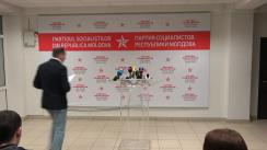 Briefing organizat de PSRM cu privire la rezultatele Referendumului de demitere a primarului general al municipiului Chișinău