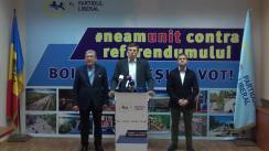 Conferință de presă organizată de conducerea Partidului Liberal cu privire la rezultatele Referendumului de demitere a primarului general al municipiului Chișinău