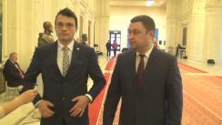 Declarație de presă susținută de copreședinții Comisiei Comune pentru Integrare Europeană dintre Parlamentul Republicii Moldova și Parlamentul României, George Mocanu și Bogdan-Ionel Rodeanu