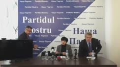 """Conferința de presă cu tema """"Poporul împotriva bandei"""": """"Partidul Nostru"""" sprijină inițiativa societății civile de desfășurare a referendumului pentru anularea sistemului electoral mixt"""""""