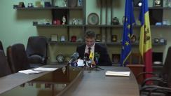 Primul briefing săptămânal organizat de Ministerul Justiției al Republicii Moldova