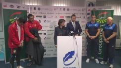 Conferință de presă organizată de Federația Română de Rugby prilejuită de ultimul meci test al lunii noiembrie, România - Tonga