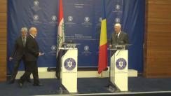 Conferință de presă susținută de ministrul Afacerilor Externe al României, Teodor Meleșcanu, și ministrul Afacerilor Externe al Republicii Irak, Ibrahim Al-Eshaiker Al-Jaafari
