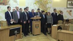"""Conferință de presă susținută de fracțiunea PSRM în CMC cu tema """"Despre lucrările Consiliului Municipal Chișinău"""""""