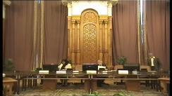Ședința  Comisiei specială comună a Camerei Deputaților și Senatului pentru sistematizarea, unificarea și asigurarea stabilității legislative în domeniul justiției