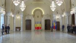 Ceremonia de decorare a unor reprezentanți ai Consiliului Concurenței de către Președintele României, Klaus Iohannis