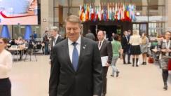 Declarații de presă susținută de Președintele României, Klaus Iohannis, cu prilejul participării la Summitul Parteneriatului Estic