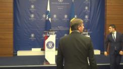 Conferință de presă susținută de ministrul Afacerilor Externe al României, Teodor Meleșcanu, și ministrul Afacerilor Externe al Republicii Slovenia, Karl Erjavec