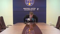 Briefingul săptămânal organizat de Ministerul Justiției al Republicii Moldova