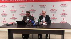 Conferință de presă susținută de deputații fracțiunii parlamentare a Partidului Socialiștilor din Republica Moldova