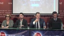 """Conferința de presă cu tema """"Aspectele organizatorice ce țin de inițierea referendumului legislativ privind anularea sistemului electoral mixt și lansarea paginii web a grupului de inițiativa"""""""