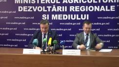 """Conferință de presă organizată de Ministerul Agriculturii, Dezvoltării Regionale și Mediului cu tema """"Rezultatele implementării politicii de dezvoltare regională în anul 2017"""""""