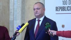 Declarațiile Președintelui Republicii Moldova, Igor Dodon, după adunarea festivă dedicată aniversării a 100 de ani de la proclamarea Republicii Democratice Moldovenești