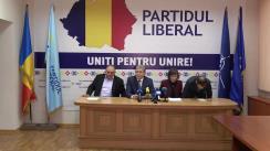 Conferință de presă organizată de conducerea Partidului Liberal