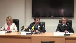 Conferință de presă organizată de IGP privind anihilarea unei grupări infracționale, specializată în fraude fiscale în proporții deosebit de mari