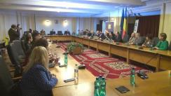 """Dezbaterea cu tema """"Eroarea judiciară - remedii internaționale și curtea cu jurați"""", organizată de Societatea Română pentru Drepturile Omului"""
