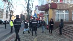 Acțiune de protest organizată dd PSRM față de deschiderea oficiului de legătură NATO la Chișinău