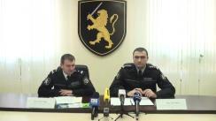Conferință de presă organizată de IGP privind operațiunea de amploare antidrog