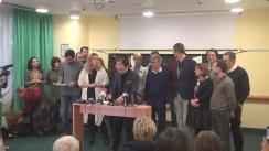 Declarații de presă susținute de Partidele parlamentare din opoziție și asociații din societatea civilă
