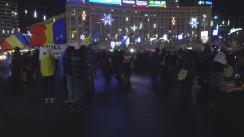 Protest în Piața Victoriei față de modificările legilor Justiției