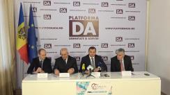 """Conferință de presă organizată de Partidul Platforma Demnitate și Adevăr cu tema """"Vine misiunea de evaluare din partea Uniunii Europene. Revendicările Platformei DA"""""""