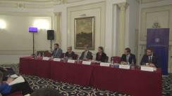 """Conferința organizată de Institutul European din România și Ministerul Afacerilor Externe, prin Ministrul delegat pentru Afaceri Europene, cutema """"Președinția română a Consiliului UE văzută prin ochii tinerilor"""""""