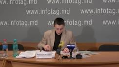 """Conferință de presă susținută de avocatul din Ucraina Nikolai Cojușco cu tema """"Lupta împotriva corupției în Ucraina. Protecția copiilor după revoluția demnității de pe Maidan. Trei ani mai târziu"""""""