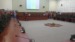 Ceremonia de sosire a celui de-al șaptelea contingent al Armatei Naționale din misiunea KFOR din Kosovo