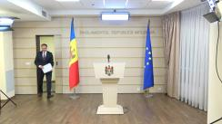 Declarațiile lui Andrian Candu după ședința Biroului permanent al Parlamentului din 14 decembrie 2017