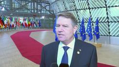 Declarație susținută de Președinte României, Klaus Iohannis