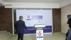 Briefing după Consiliul Politic Național al Partidului Democrat din Moldova