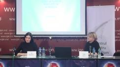 Conferință de presă organizată de Centrul pentru Jurnalism Independent cu ocazia lansării studiului național de audiență a mass-media din Republica Moldova, realizat în luna octombrie 2017