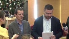 Declarații de presă susținute de consilierii generali ai PNL, Ciprian Ciucu și Cătălin Deaconescu