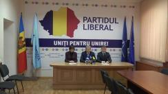 Conferință de presă susținută de conducerea Partidului Liberal