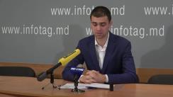 """Conferință de presă susținută de avocatul Iulian Rusanovschi cu tema """"Un cetățean al Georgiei, apropiat al lui Mihail Saakașvili, este reținut ilegal de organele de drept din Moldova"""""""