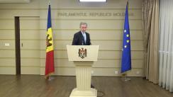 Declarațiile lui Iurie Leancă în timpul ședinței Parlamentului Republicii Moldova din 22 decembrie 2017